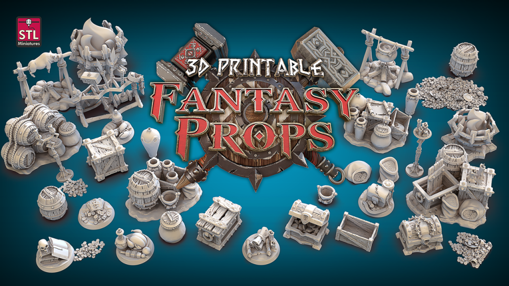 Fantasy Props Logo and Picture credit to STL Miniatures.