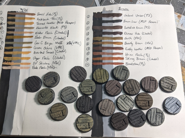 Wood Painting Bases using a Black Primer
