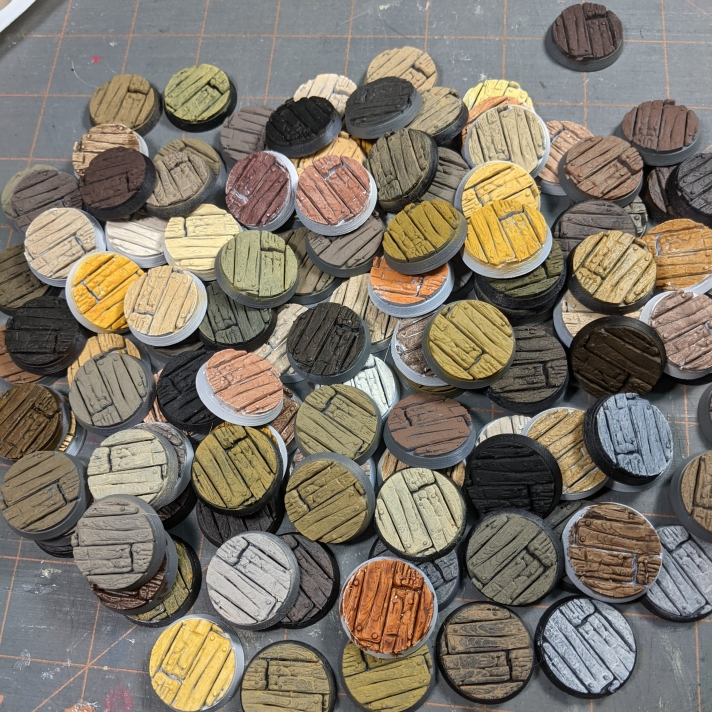 Wood Color Palette on 1 inch round tavern bases